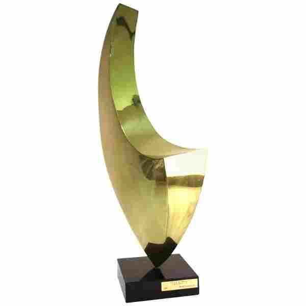 """Sasa Ulbricht Abstract """"Felicity"""" Brass Sculpture"""