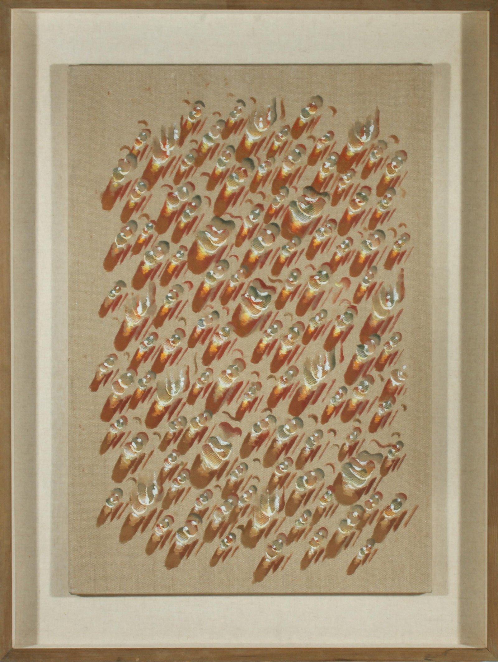 "Kim Tschang-Yeul ""Waterdrops"" Oil on Canvas"