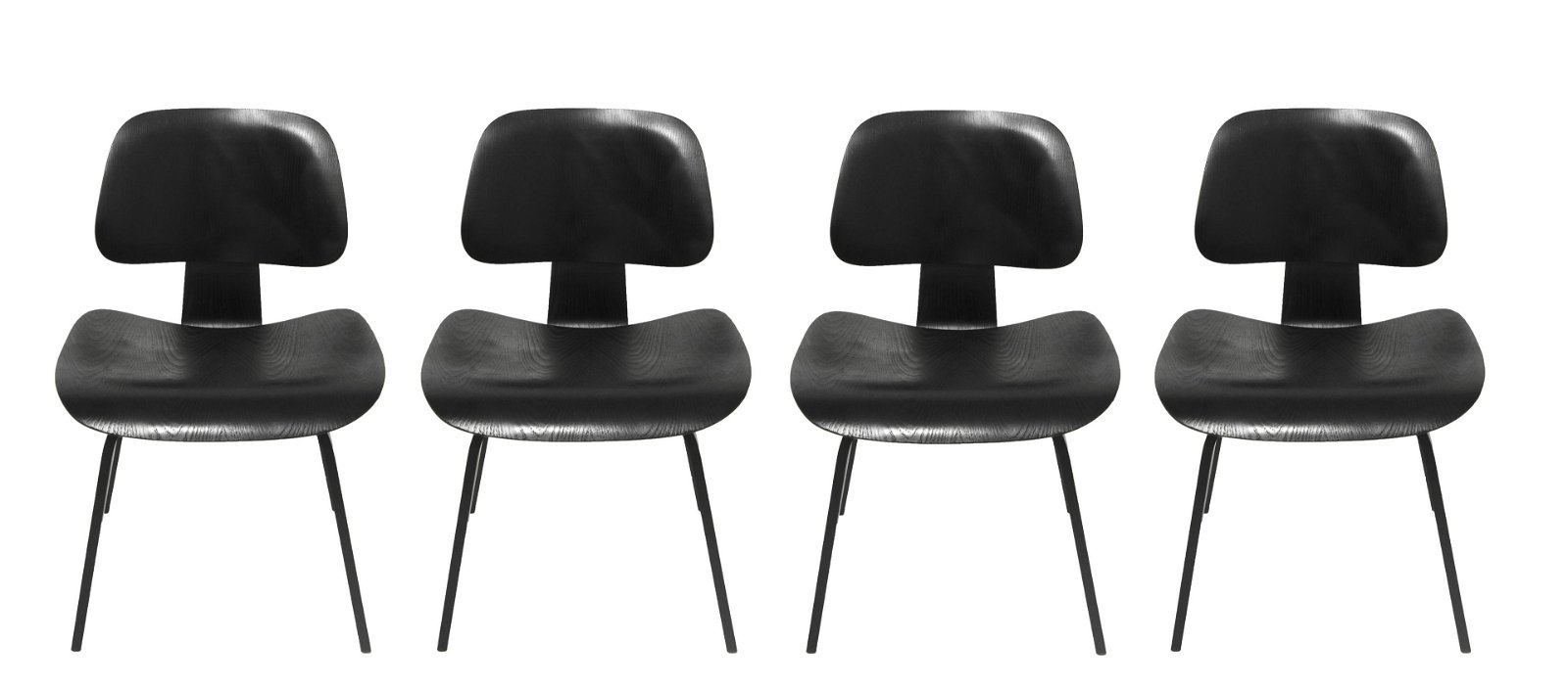 Eames for Herman Miller Black DCW Chairs, 4