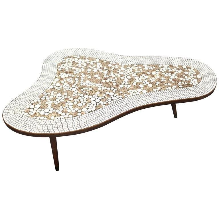 Mid-Century Free Form Stone Mosaic Coffee Table