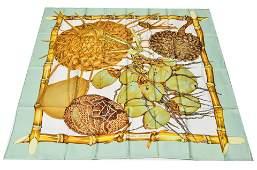 Hermes Jardin Creole Silk Scarf