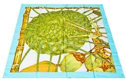 Hermes Jardin Creole Detail Silk Scarf