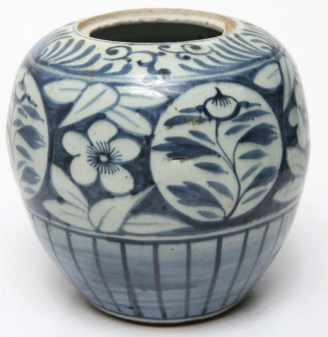 Chinese Qing Dynasty Blue & White Porcelain Jar
