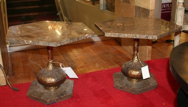 6: Pair of Italian Marble End Tables.
