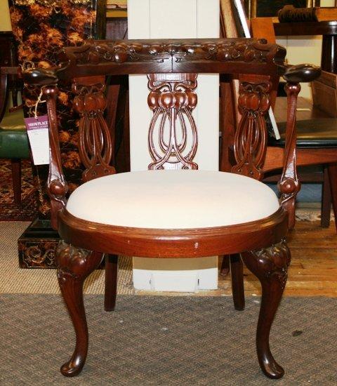12: Art Nouveau Barrel Shaped Chair