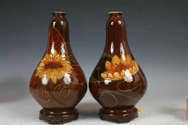 "13: Pair of Art Nouveau Vases,stamped ""A"""