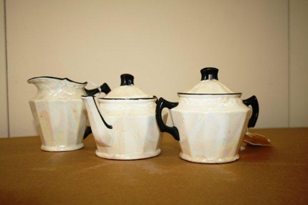 20: Czech Lustre Sugar Bowl and Creamer
