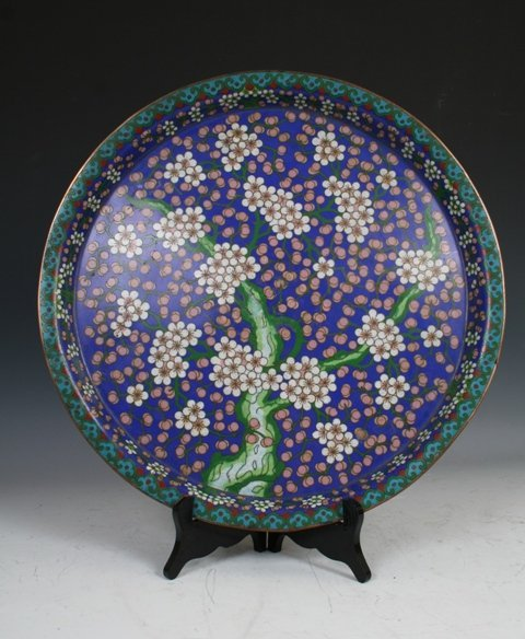 1005: Chinese Cloisonne Plate Early 20th c.