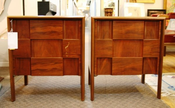 1020: Pair of mid Century Art Modern Side Tables