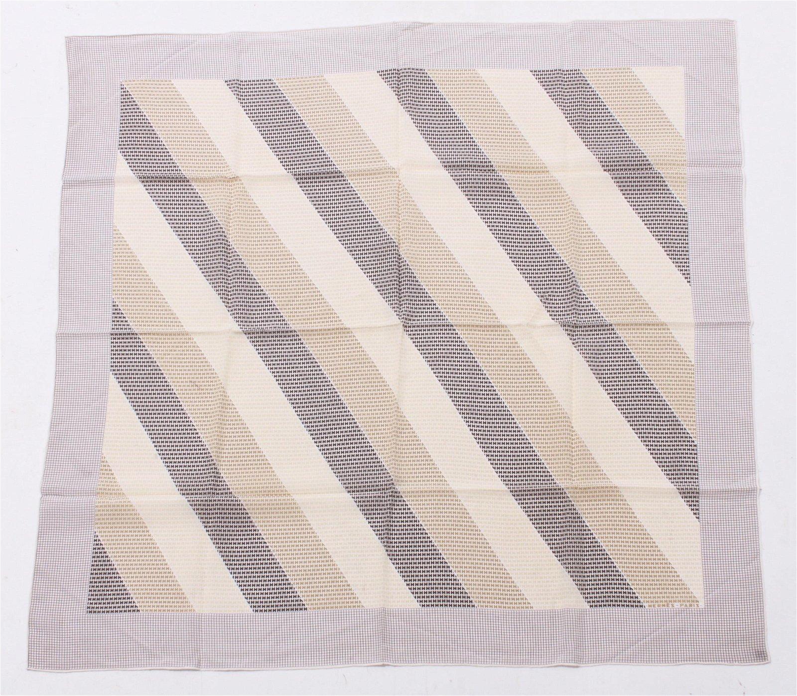 """Hermes """"Monogram"""" Silk Scarf"""
