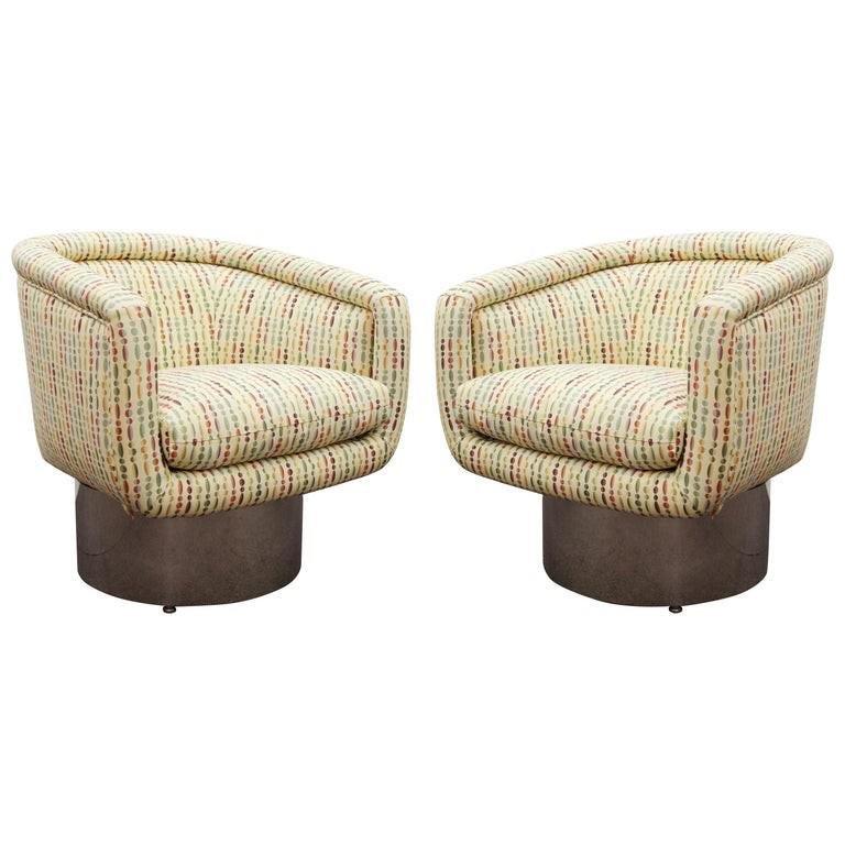 Leon Rosen Pace Mid-Century Swivel Lounge Chairs