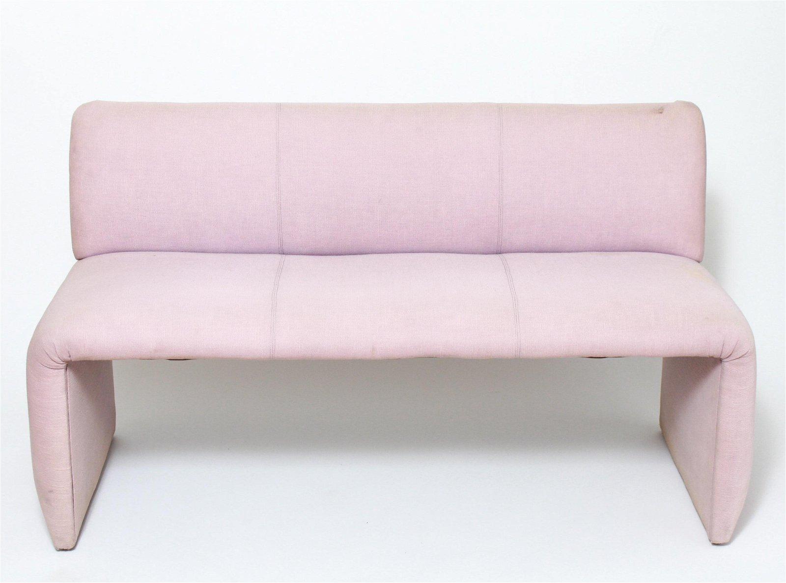 Dunbar Modern Pink Upholstered Bench