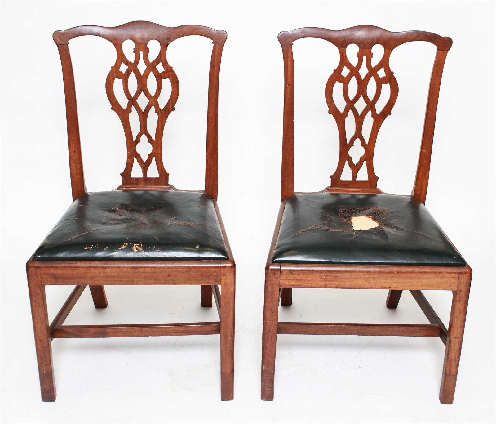 Pair of Antique Chippendale Manner Side Chairs