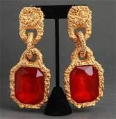 Chanel Runway Oversized Resin Earrings
