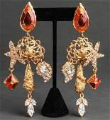 Christian Lacroix Runway Jeweled Earrings
