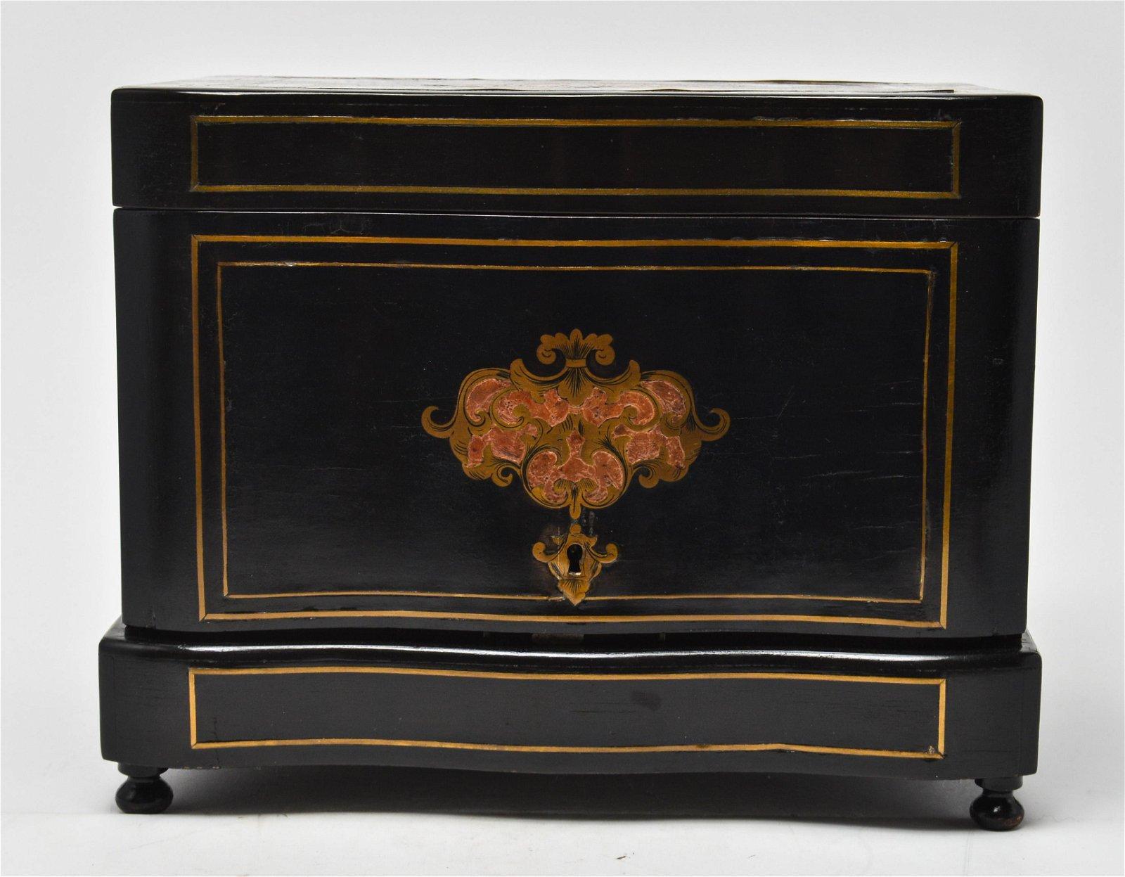 Napoleon III Style Tantalus w Boulle Work