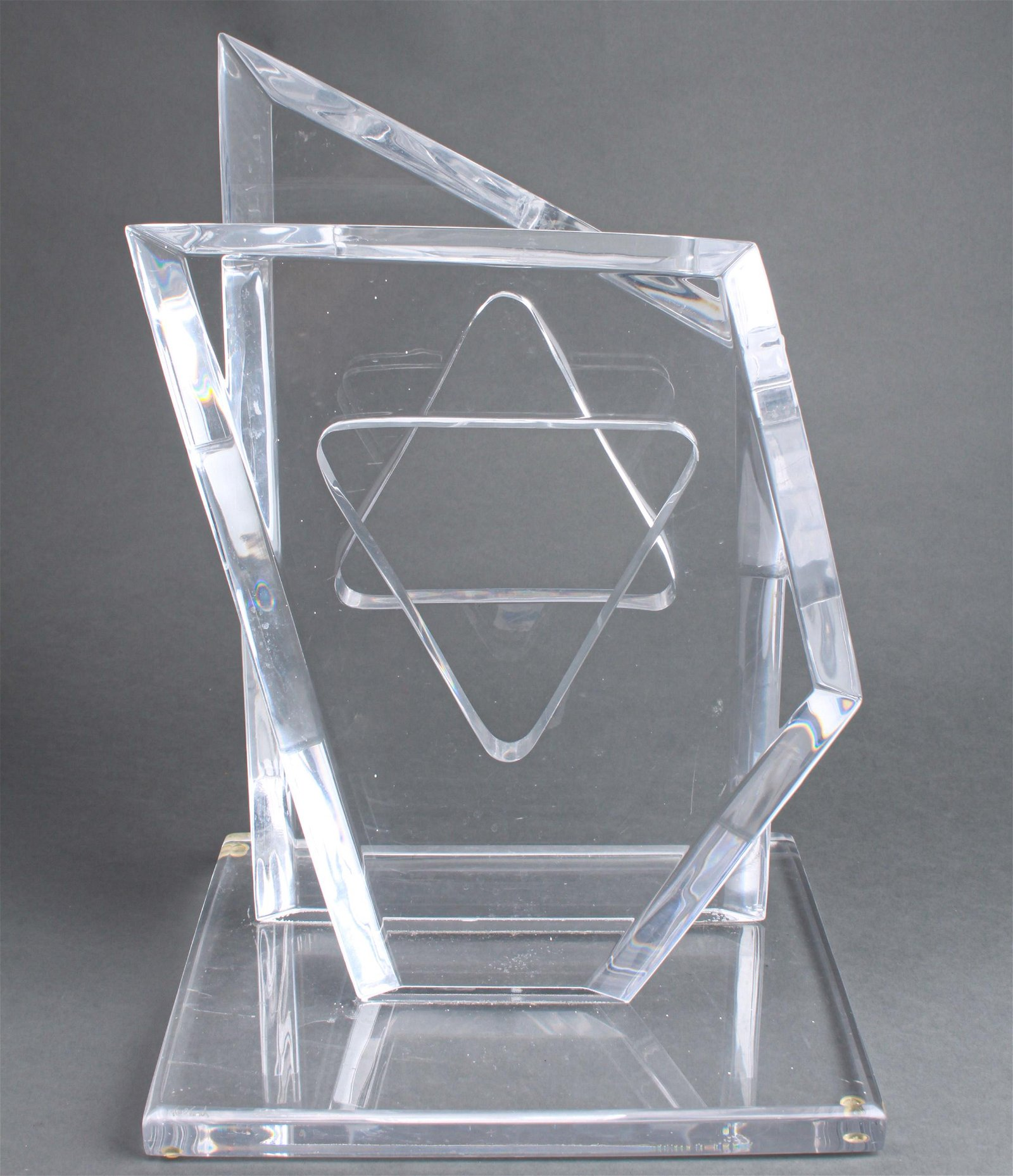 Hivo Van Teal Judaica Star of David Modern Lucite
