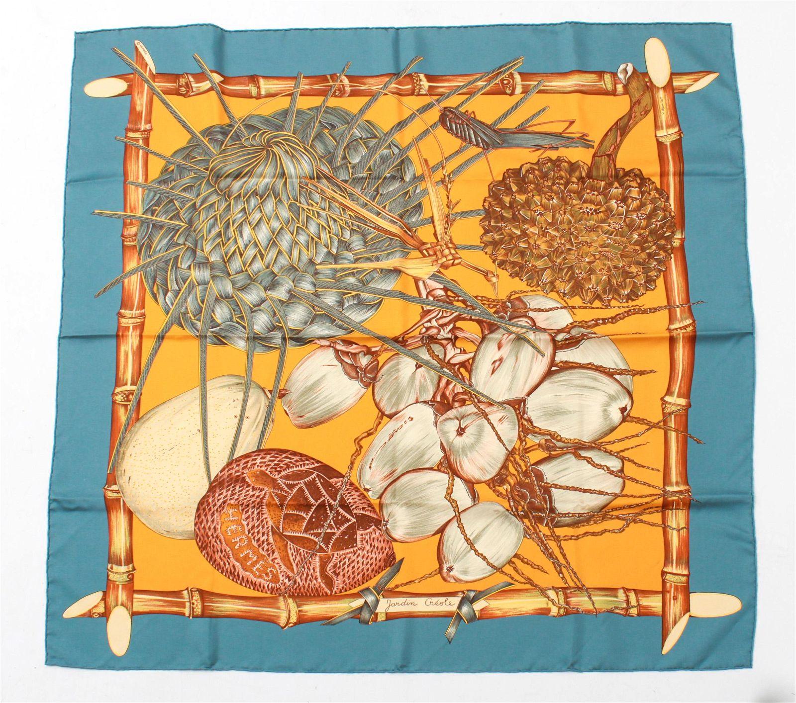 """Hermes """"Jardin Creole"""" Silk Scarf"""