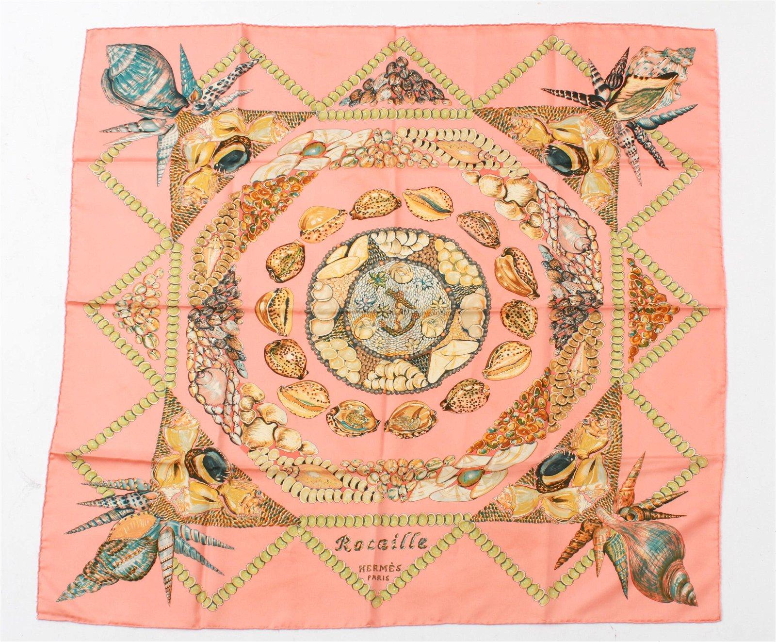 "Hermes ""Rocaille"" Silk Scarf"