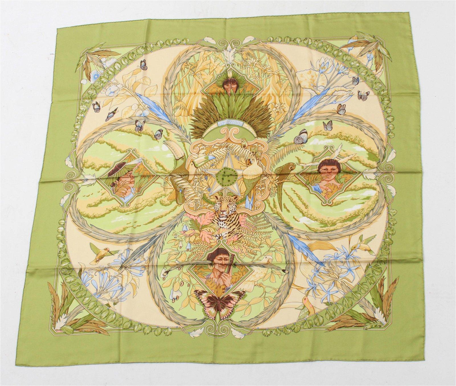 "Hermes ""Amazonia"" Silk Scarf"