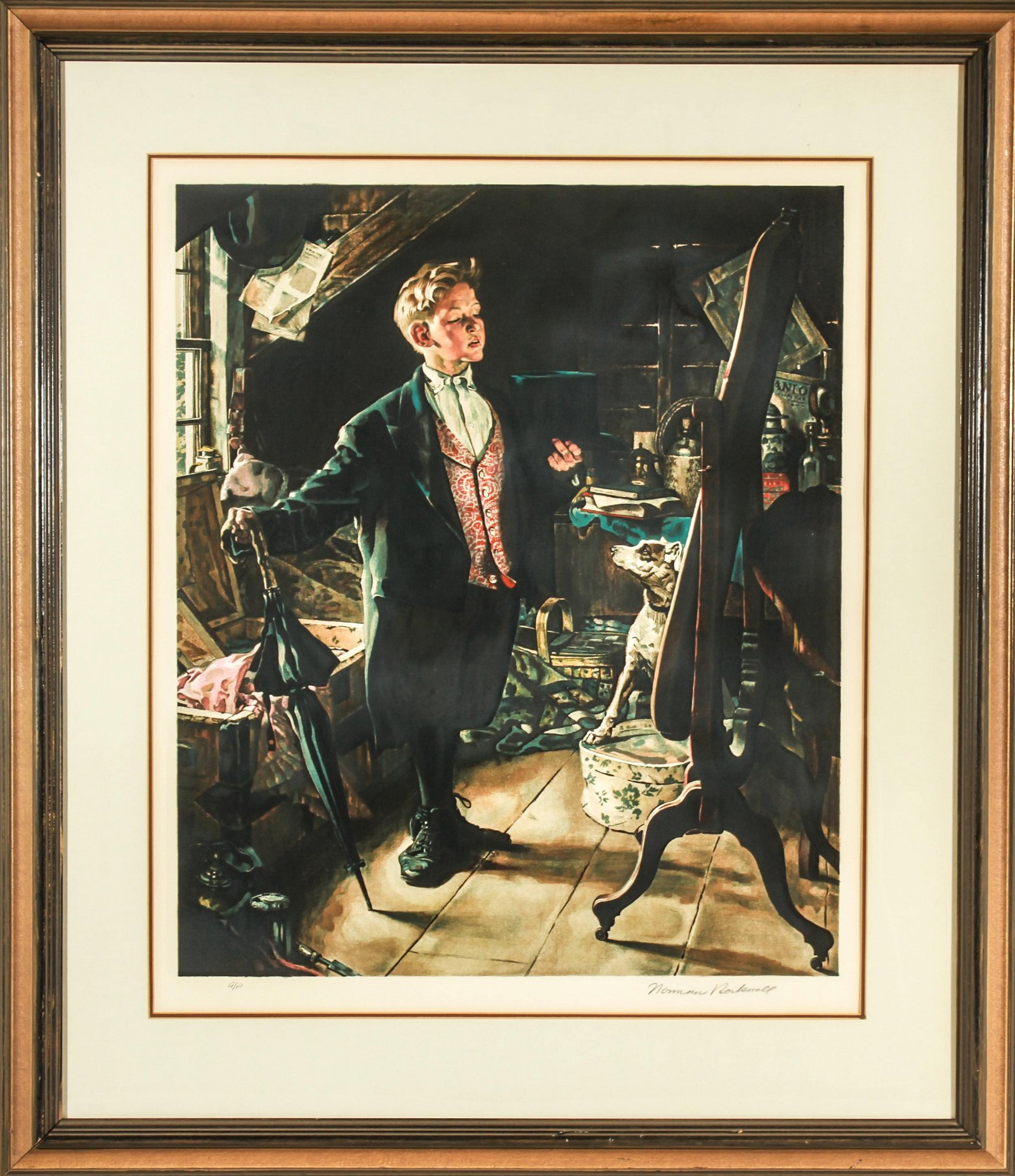 """Norman Rockwell """"Top Hat and Tails"""" Lithograph"""