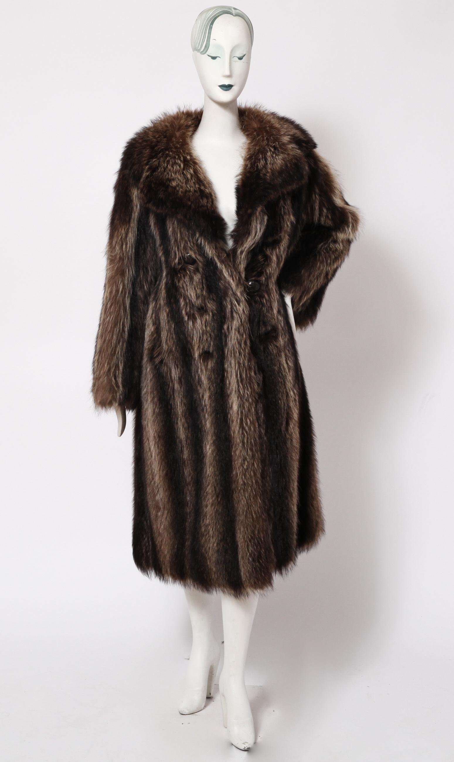 Edward Reilly & Co Ladies' Striped Fur Coat