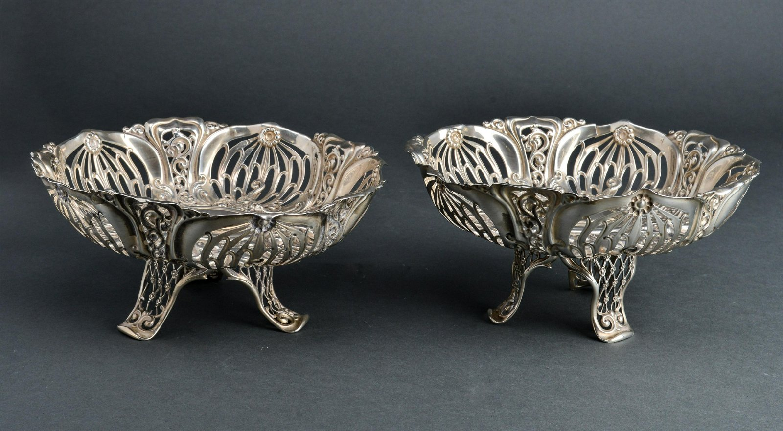 Bailey, Banks & Biddle Silver Footed Compotes Pair