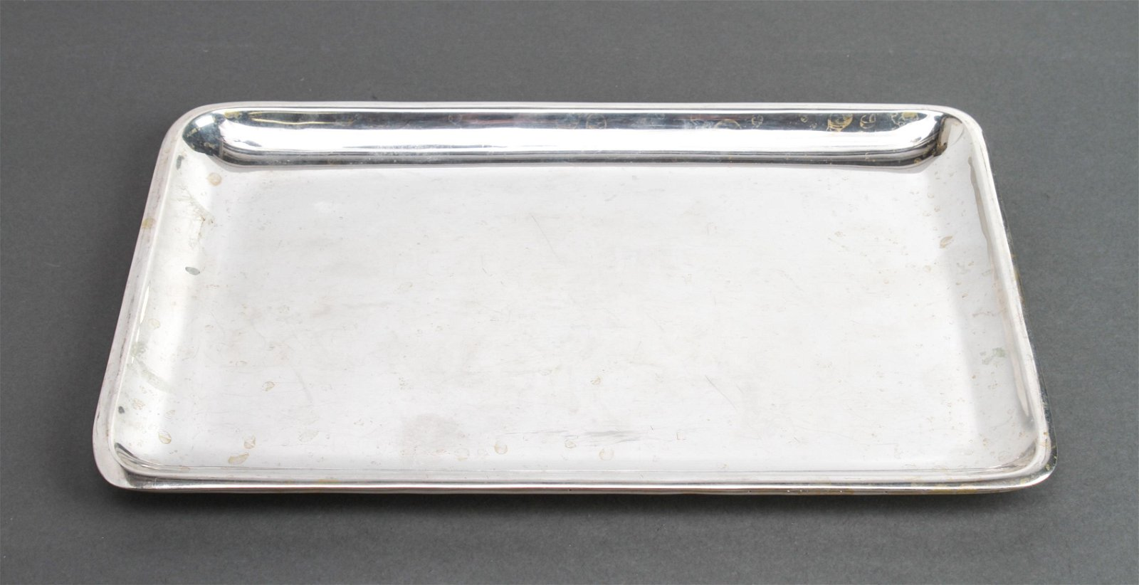 Modern Sterling Silver Rectangular Tray
