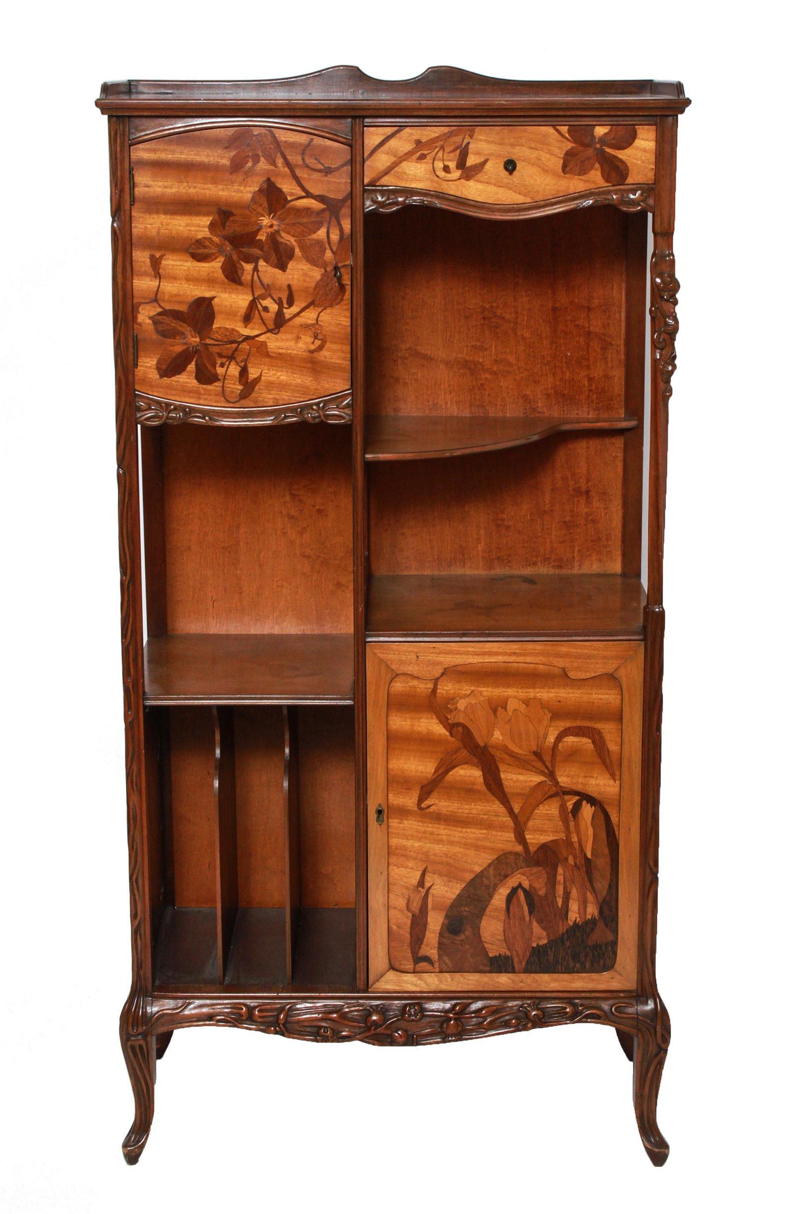 Louis Majorelle Art Nouveau Marquetry Cabinet