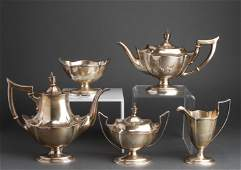 Gorham Sterling Silver Coffee  Tea Svc Set 5 Pcs