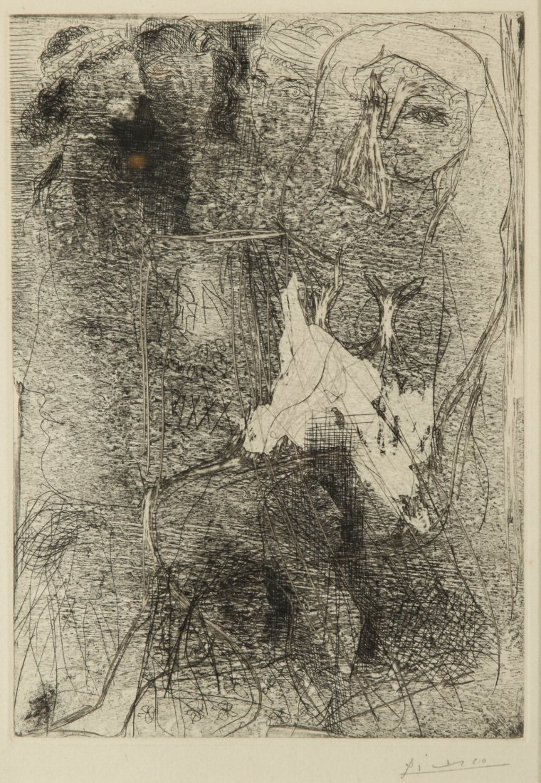 Pablo Picasso Seated Woman Vollard Suite Etching