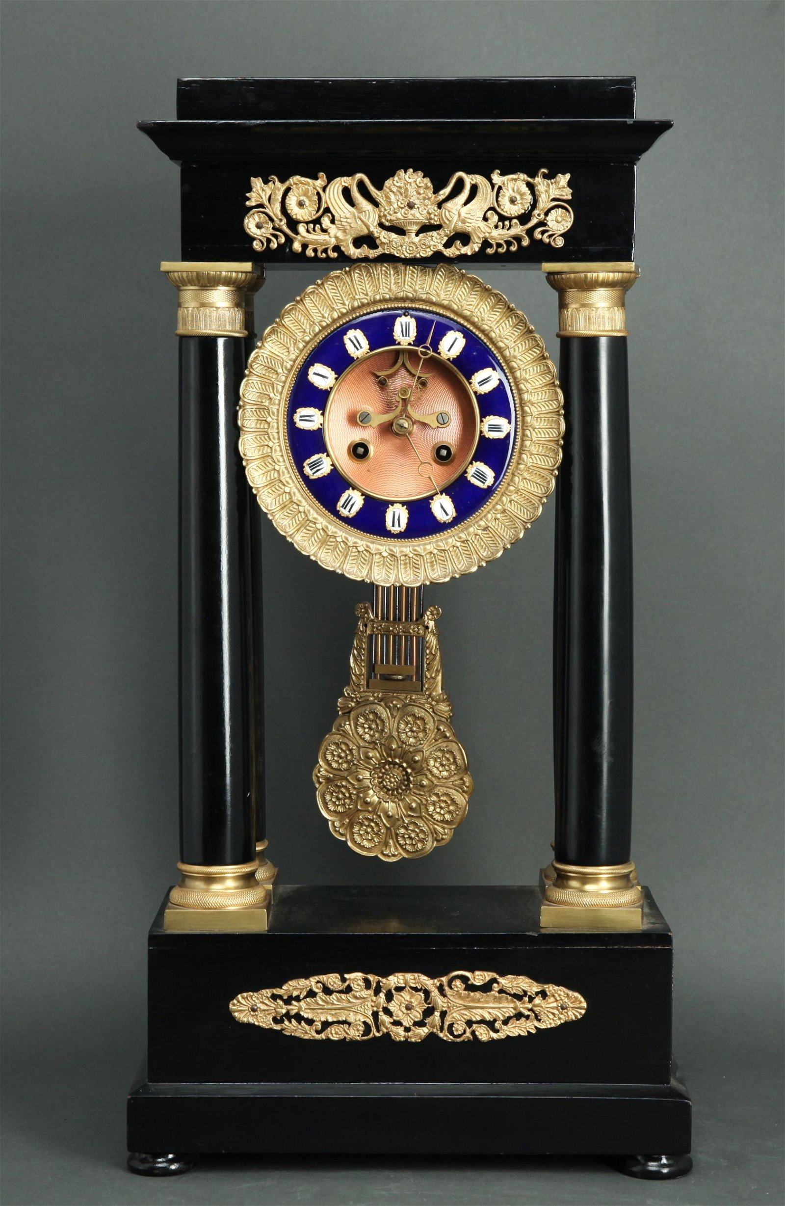 Japy Freres French Empire Mantel Clock