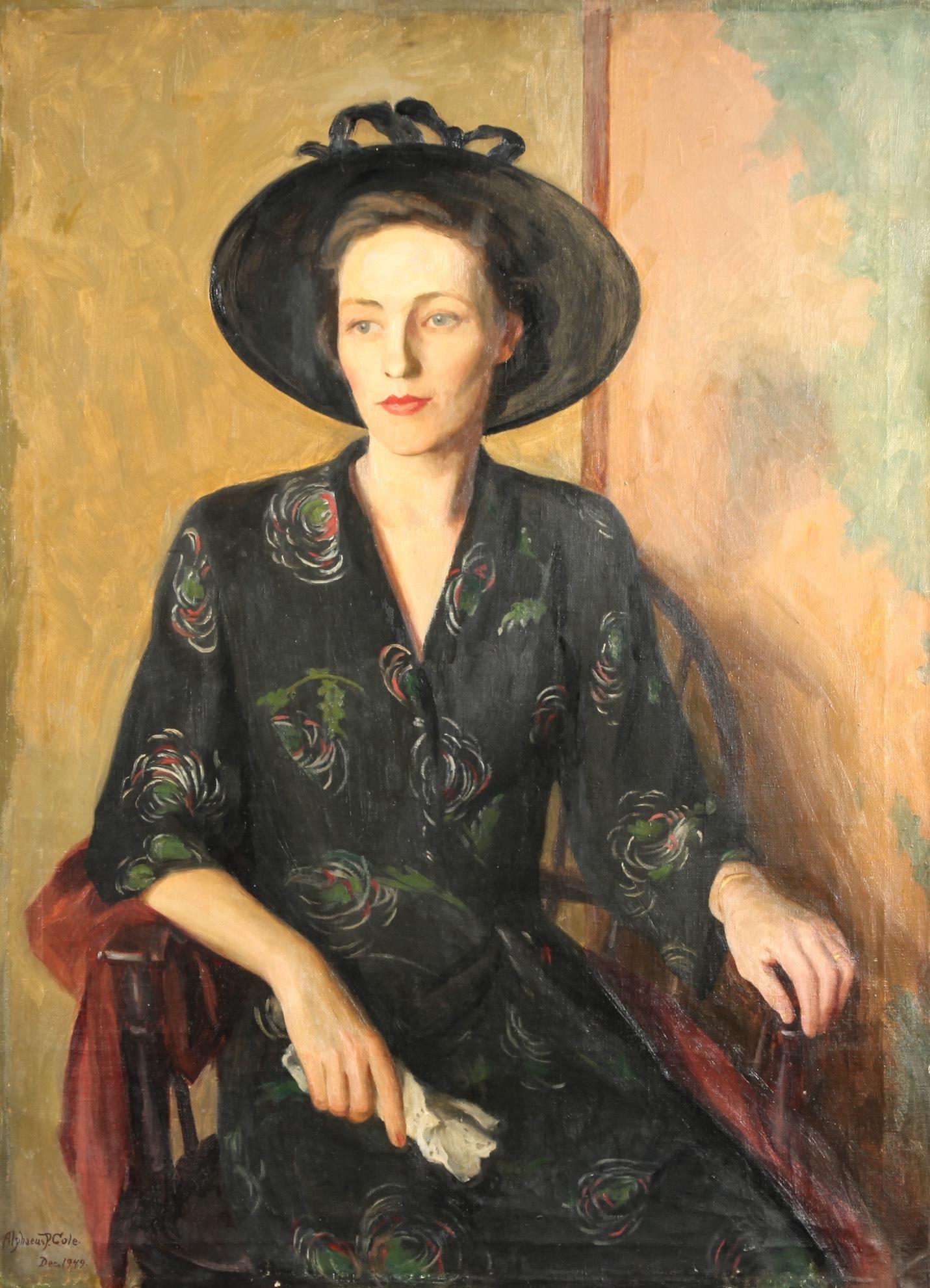 Alphaeus P. Cole Portrait of a Woman Oil on Canvas