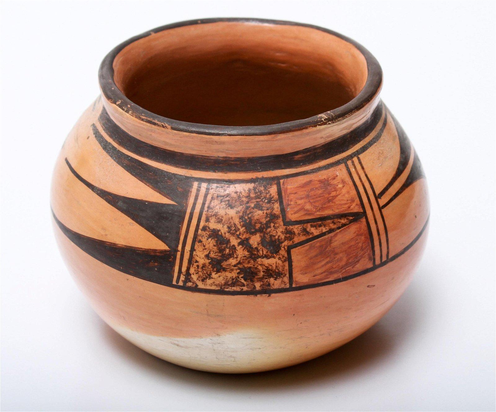 Walpi Hopi Native American Pottery Bowl