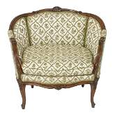 French Louis XV Style Oversize Bergere / Armchair