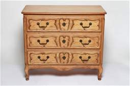 French Provincial Manner Three Drawer Chest