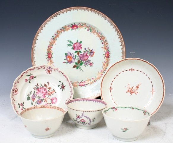3004: 6 18th c. Chinese Famille Rose Porcelain Bowls