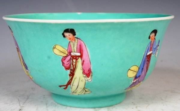 3018: 19th c. Famille Rose Chinese Bowl