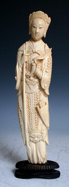 3050: 18th / 19th c. Chinese Ivory Mulan Figure