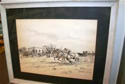 3449 Enrique Castells Capurro Watercolor Ink on Paper