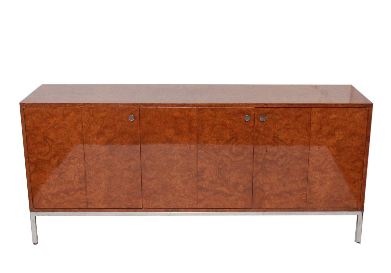 Pace Mid-Century Modern Burlwood Sideboard