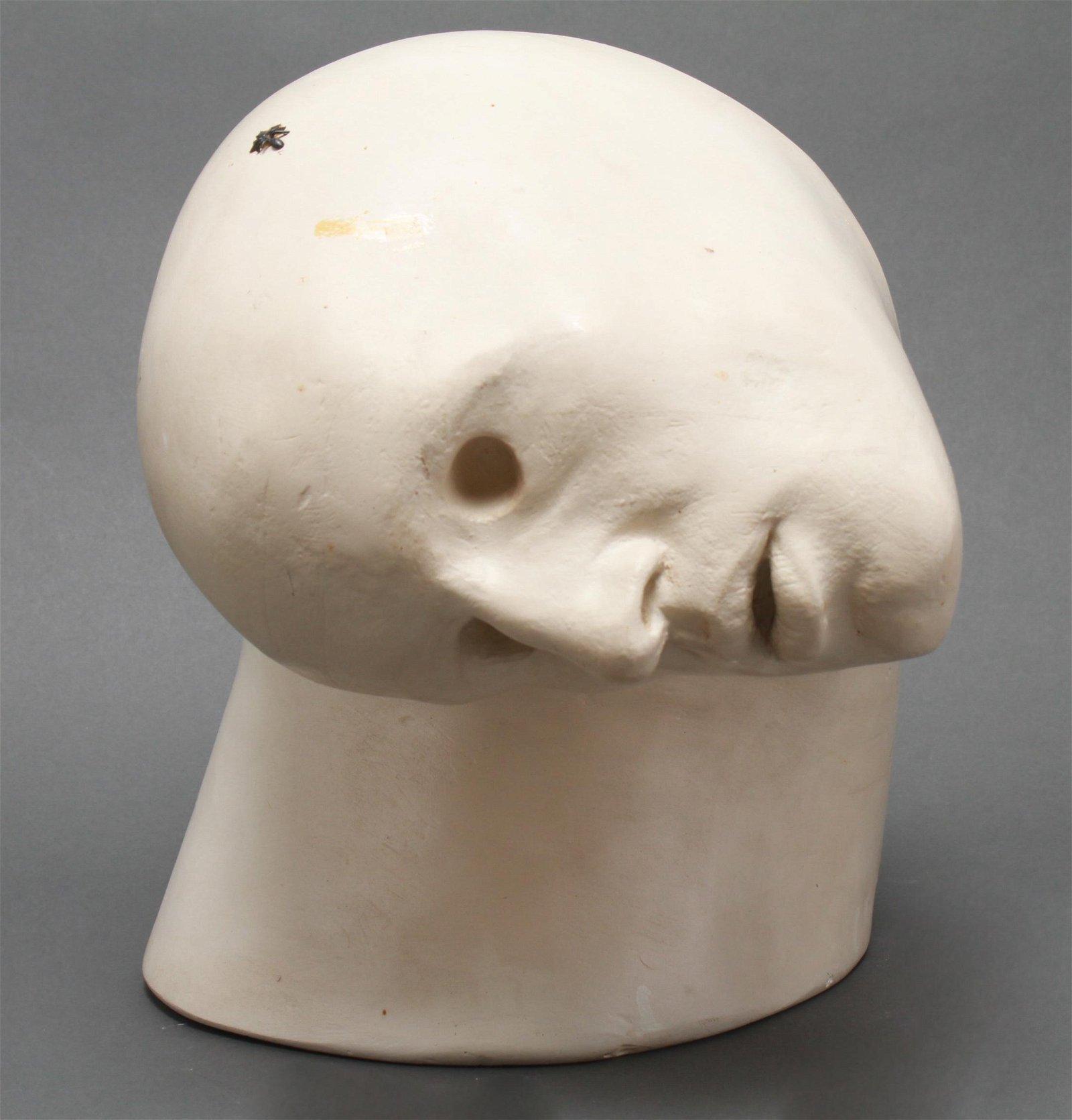 Richard Etts Modern Plaster Sculpture of a Head