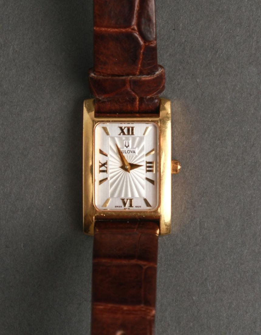 Bulova 18K Yellow Gold & Guilloche Dial Wristwatch