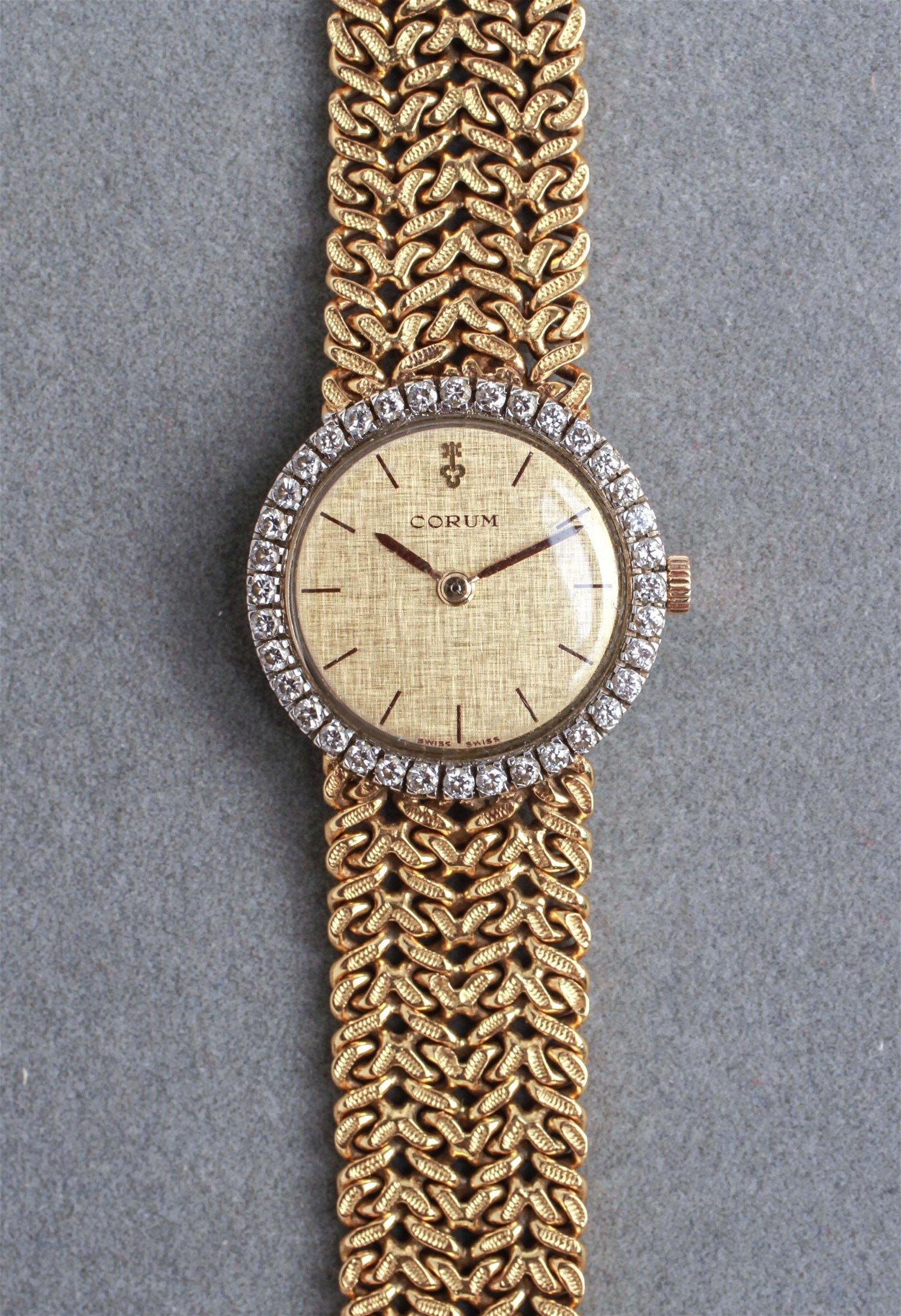 Corum 18K Gold Diamonds Ladies' Watch Bracelet