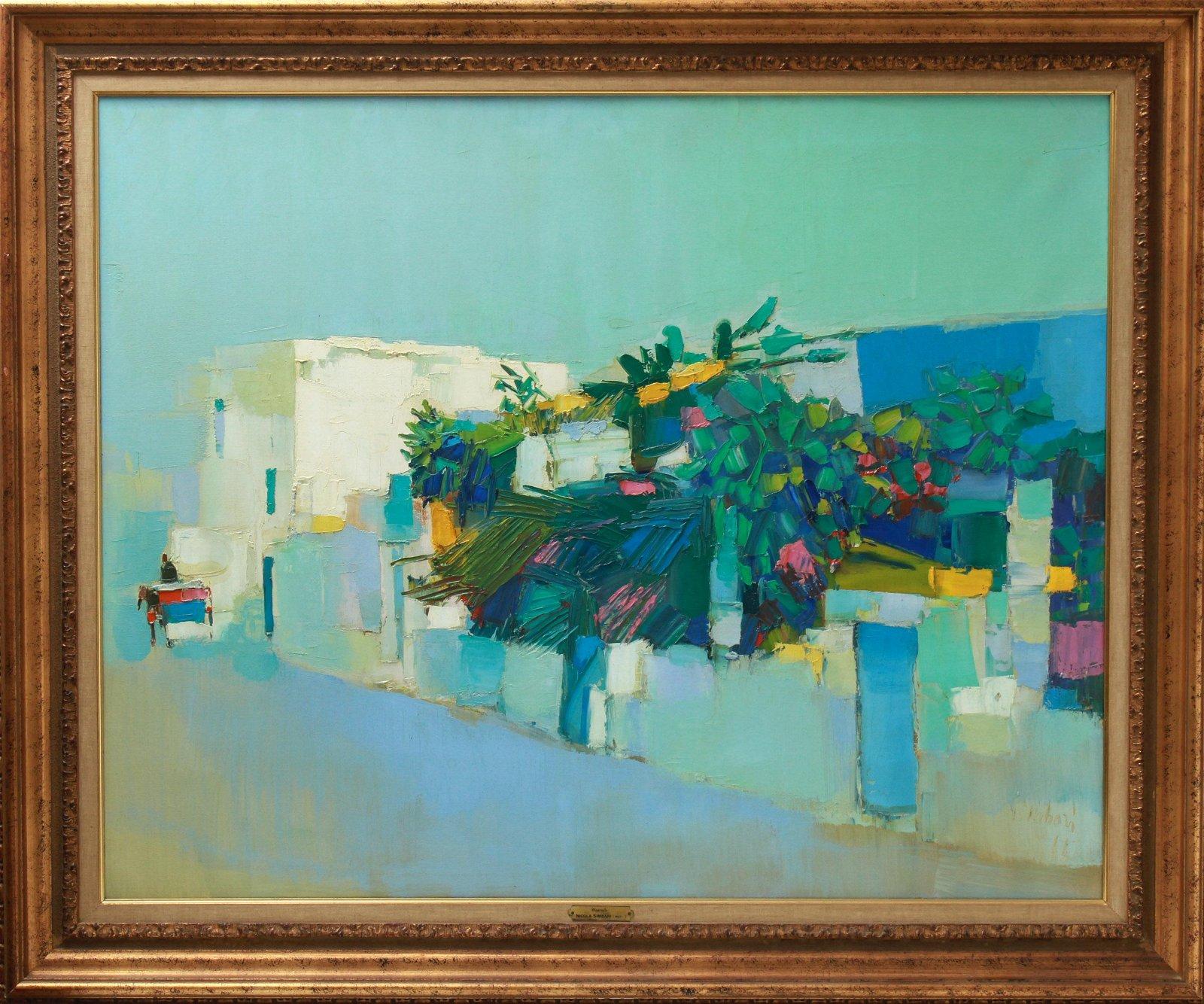 "Nicola Simbari ""Monreale"" Oil on Canvas"