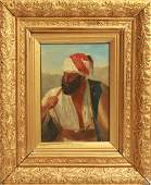 """B. Long """"The Brigand"""" 19th C. Oil on Canvas"""