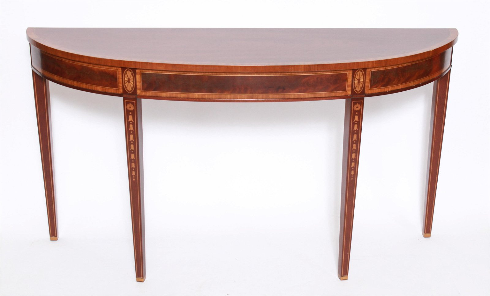 Hepplewhite Style Demilune Console Table