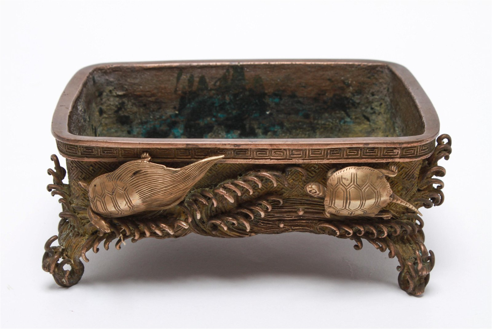 Japanese Bronze Table Top Planter