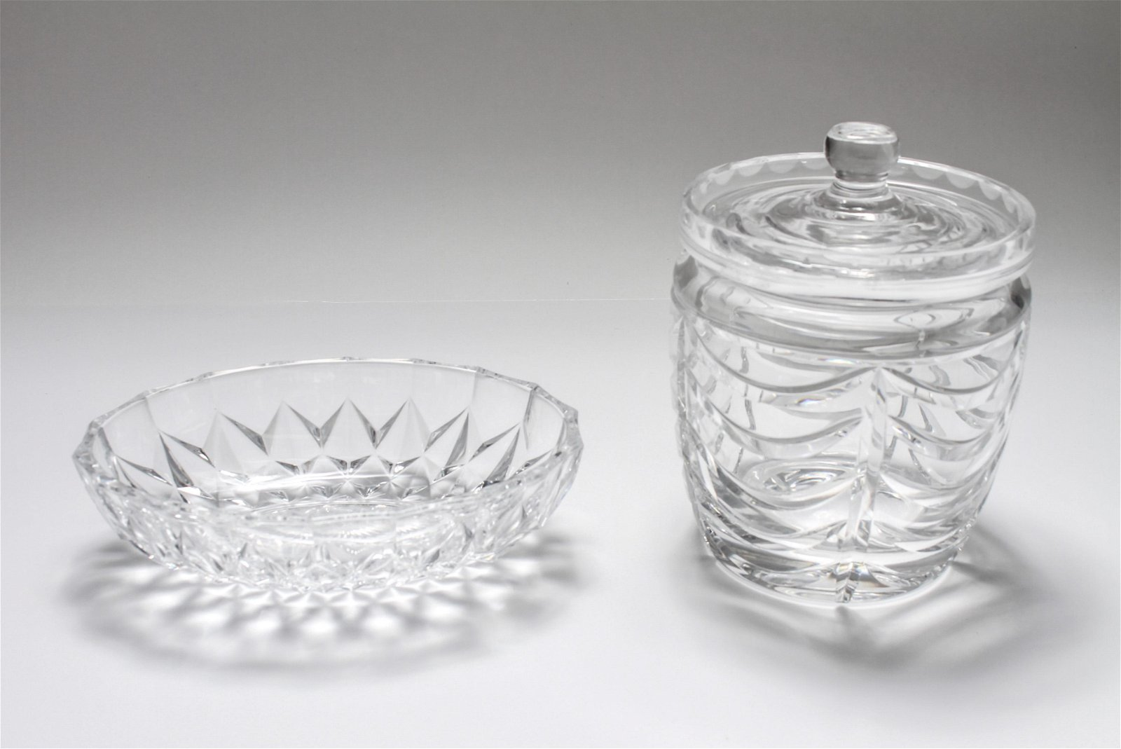 Tiffany & Co. Biscuit Jar & Val St. Lambert Tray
