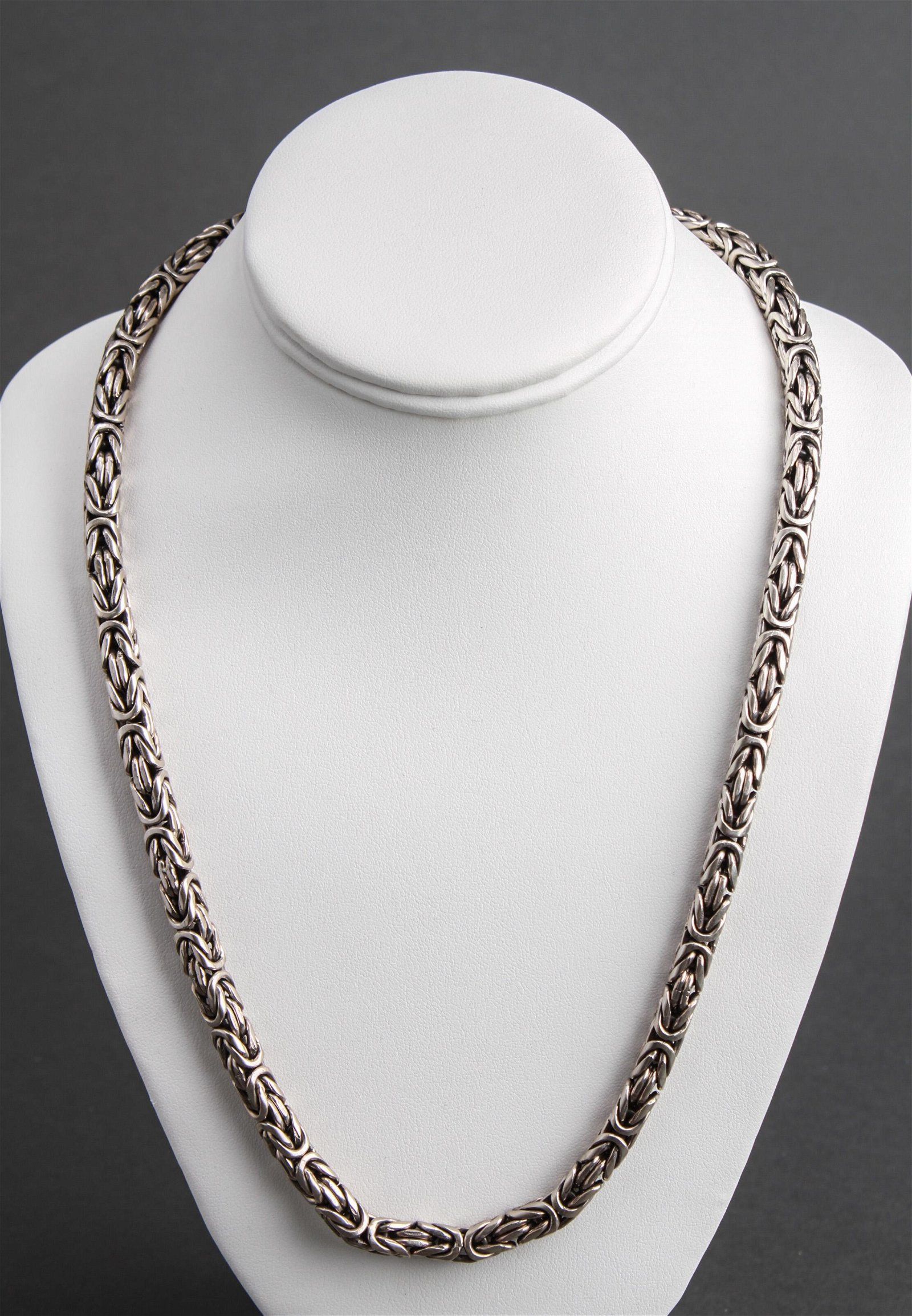 Heavy Sterling Silver Chain Link Necklace